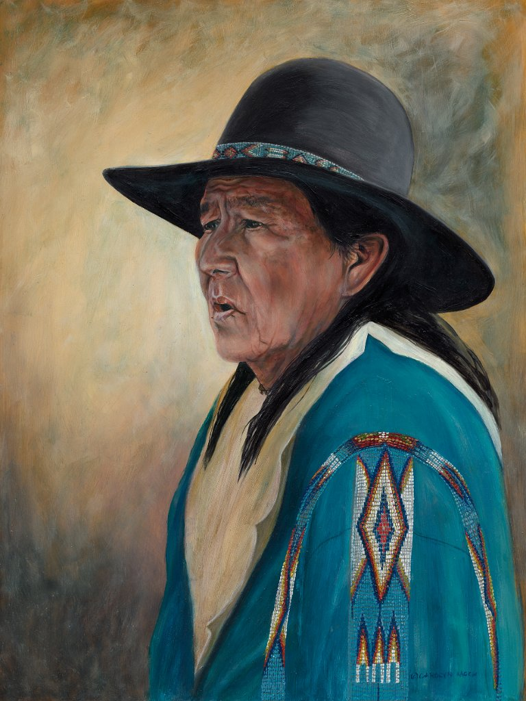 A portrait of a Native American man